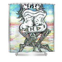 Fertility Dance With Blue Sky Shower Curtain