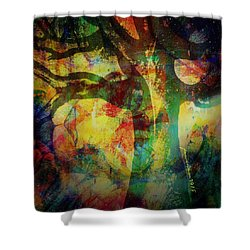 Festival Baobab Shower Curtain