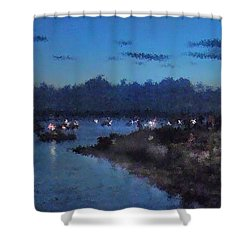 Festival Night Land And Shore Shower Curtain by Felipe Adan Lerma