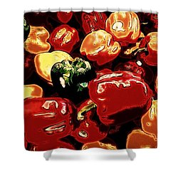 Festival Of Peppers Shower Curtain