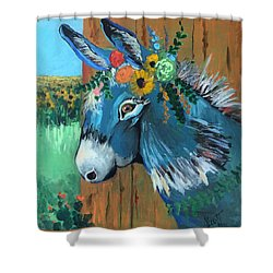 Festive Fiona Shower Curtain