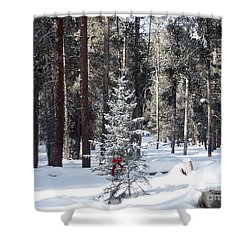 Festive Forest Shower Curtain