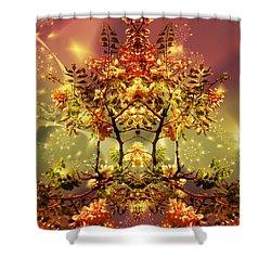 Festive Fractal Shower Curtain