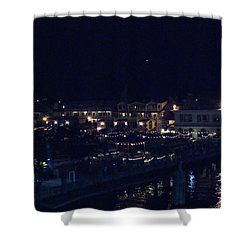 Festive Harbor Lights Shower Curtain