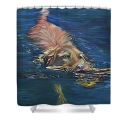 Fetching The Stick Shower Curtain