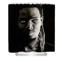 Fetty Wap Drawing Shower Curtain