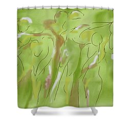 Few Figures Shower Curtain by Mary Armstrong