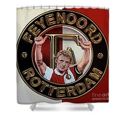 Feyenoord Rotterdam Painting Shower Curtain by Paul Meijering