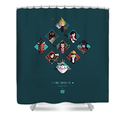 Shower Curtain featuring the digital art Ff Design Series by Michael Myers