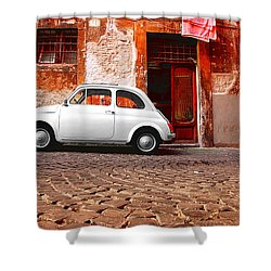 Fiat 500 Shower Curtain