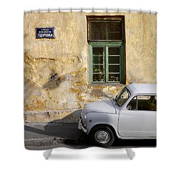 Fiat 600. Belgrade. Serbia Shower Curtain