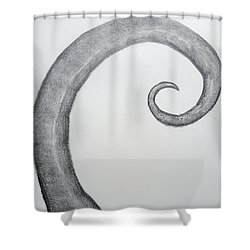 Fibonacci Spiral No.1 Shower Curtain