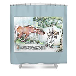 Fickle Creatures Foto Shower Curtain