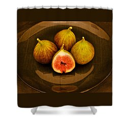 Ficus Carica Common Fig Shower Curtain
