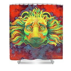 Fidardo's Lion Shower Curtain by Andrew Danielsen