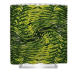 Fiddlehead Fern Wild Frenzy Shower Curtain by Joy Nichols