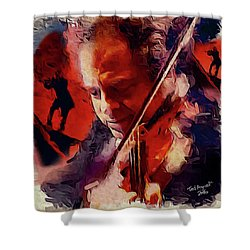 Fiddler Shower Curtain by Ted Azriel