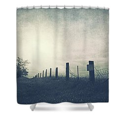 Field Beyond The Fence Shower Curtain