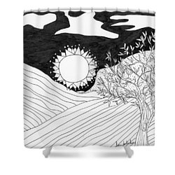 Shower Curtain featuring the painting Field Day by Lou Belcher