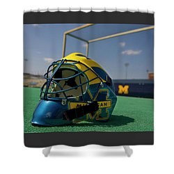 Field Hockey Helmet Shower Curtain