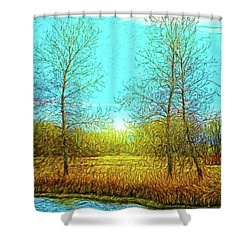 Field In Morning Light Shower Curtain