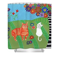 Field Of Cats And Dreams Shower Curtain