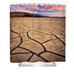 Field Of Cracks Shower Curtain