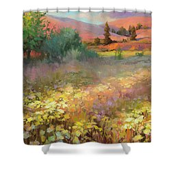 Shower Curtain featuring the painting Field Of Dreams by Steve Henderson