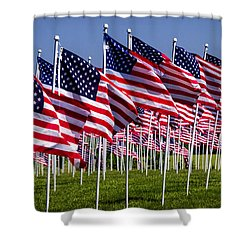 Field Of Flags For Heroes Shower Curtain