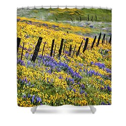 Field Of Gold And Purple Shower Curtain
