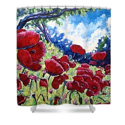 Field Of Poppies 02 Shower Curtain by Richard T Pranke