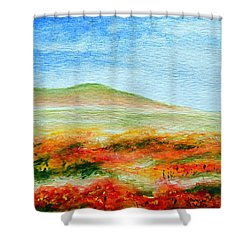 Shower Curtain featuring the painting Field Of Poppies by Jamie Frier