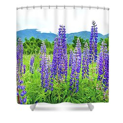Shower Curtain featuring the photograph Field Of Purple by Greg Fortier