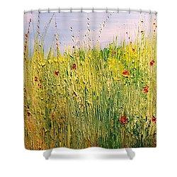 Field Of Wild Flowers Shower Curtain