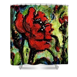 Field Poppy Shower Curtain