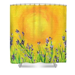 Field Sunset Shower Curtain