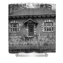 Field Telegraph Station Shower Curtain