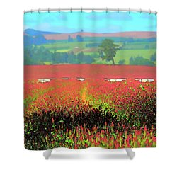Shower Curtain featuring the photograph Field Trail by Jerry Sodorff