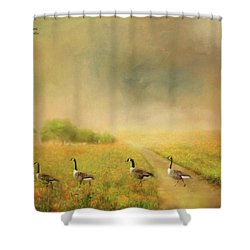 Field Trip Shower Curtain by Wallaroo Images