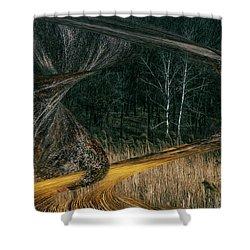 Field Warping Shower Curtain