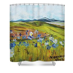Field With Flowers Shower Curtain