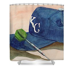 Fielder Shower Curtain by Terry Lewey