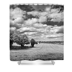 Fields And Clouds Shower Curtain