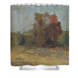 Fields Edge In Autumn Shower Curtain