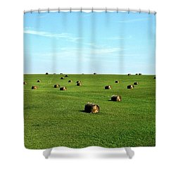 Fields Of Green Shower Curtain by Mark Mickelsen