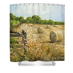 Fields Of Hay Shower Curtain by Marty Garland