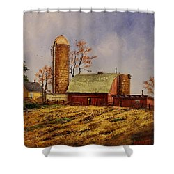 Fields Ready For Fall Shower Curtain