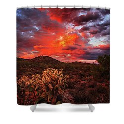 Shower Curtain featuring the photograph Fierce Beauty by Rick Furmanek