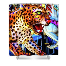 Fierce Cheetah Shower Curtain