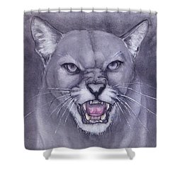 Fierce Cougar Shower Curtain